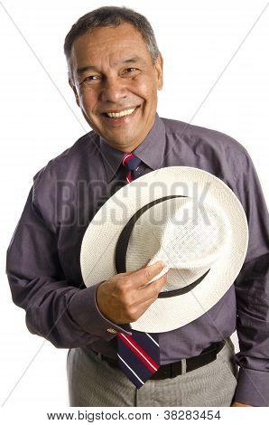 Smiling Mature Hispanic Man