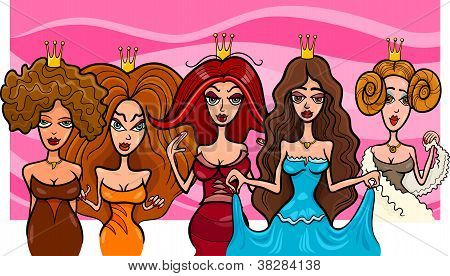 Fantasy Princesses Or Queens