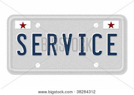 Service Car  License Plate