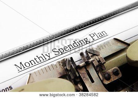 Plan de gasto mensual