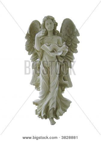 Guardian Angel Isolated On White