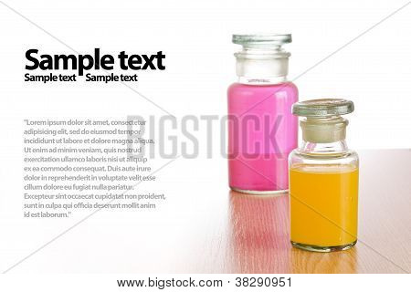 Stylish Pharmacy Bottles, Isolated