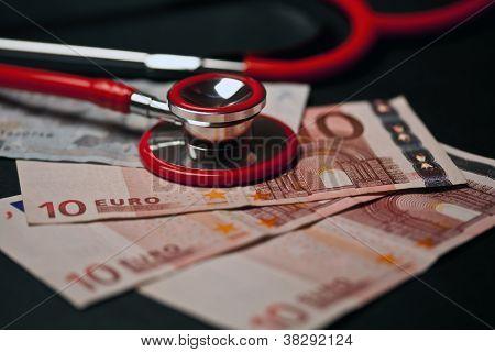 Stethoscope And Money