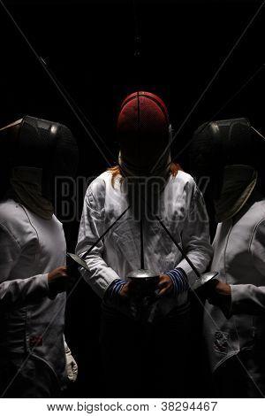 Fencing Men