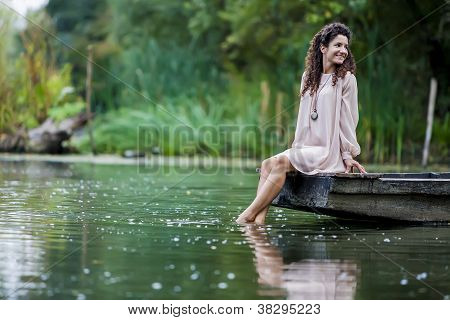 Girl On The Lake