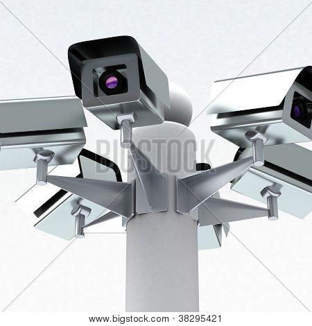 Câmeras de segurança, 3d