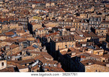 Bordeaux Streets Roof Top View