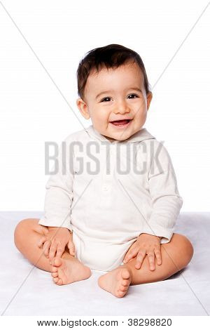 Cute Happy Baby Sitting