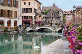 stock photo of annecy  - Wonderful view of Annecy and Palais de l - JPG