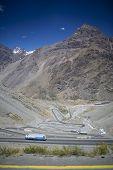 foto of aconcagua  - Road from Santiago to Mendoza  - JPG