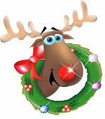 Reindeer In A Wreath