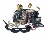 image of outlaw  - Outlaw burglar kit with tooks keys mask and a large bag to carry treasures in - JPG