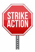 pic of stop fighting  - strike action illustration sign over white background - JPG
