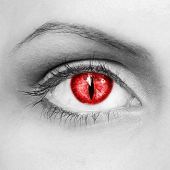 stock photo of dracula  - The eye of the vampire  - JPG