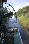 stock photo of airboat  - An air boat in the Everglades National Park - JPG
