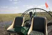 image of airboat  - An air boat in the Everglades National Park - JPG