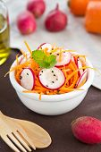image of grated radish  - Grated Carrot with Radish and sesame salad