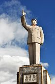 stock photo of zedong  - mao zedong monument in lijiang  - JPG