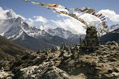 pic of sherpa  - on the trail between duglha and lobuche is a memorial area for climbers known as chukpilhara - JPG