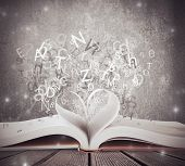 stock photo of poetry  - Concept of love for book and school - JPG