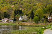 stock photo of gare  - Looking over the waters of Gare Loch in Scotland - JPG