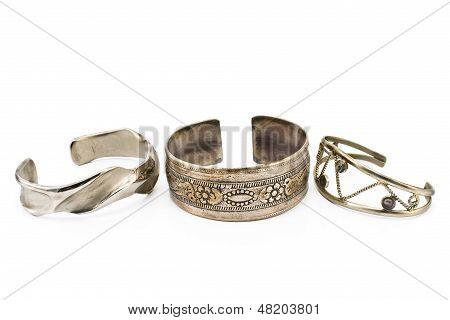 Three Silver Bracelet