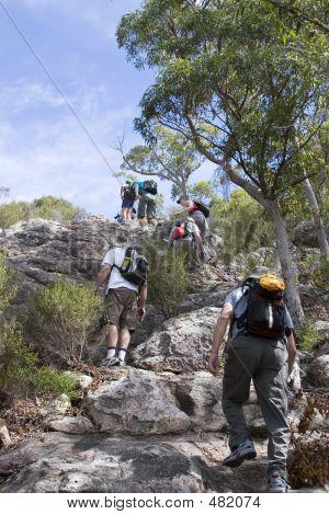 Group Climbing Mt Maroon 1