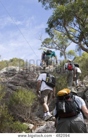 Group Climbing Mt Maroon 2