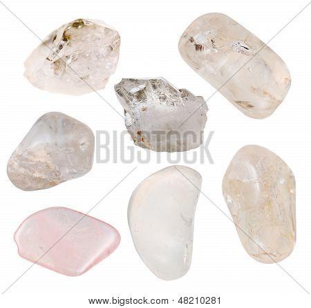 Conjunto de minerales de cuarzo cristalino