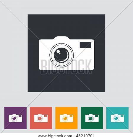 Icon flat camera.