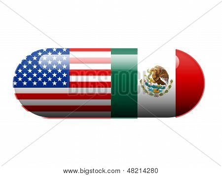 American and Mexican pill