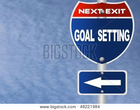 Goal setting road sign