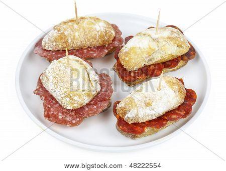 Sausage Sandwich, Typical Basque Cap.