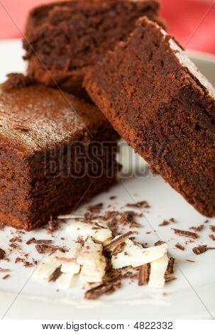 Three Chocolate Brownies