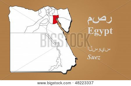 Egypt Suez Highlighted