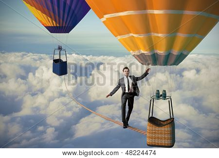 Equilibrist Businessman