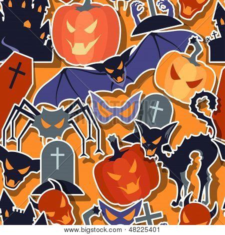 Halloween seamless Pattern.