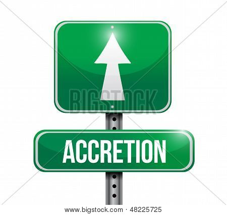 Accretion Road Sign Illustration Design