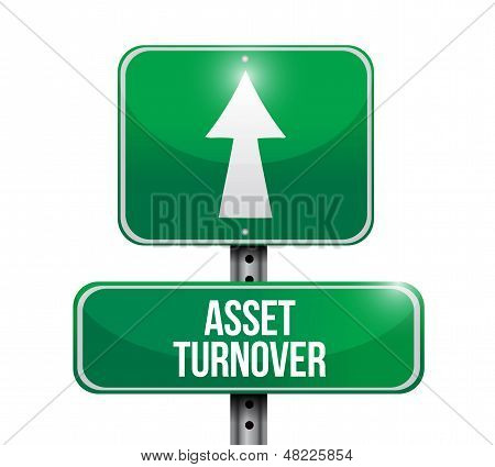 Assets Turnover Road Sign Illustrations