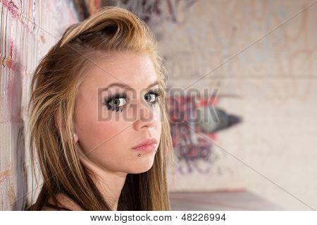 Pensive Girl Close Up