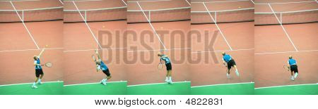 Tennis Player Pitches Ball, Series