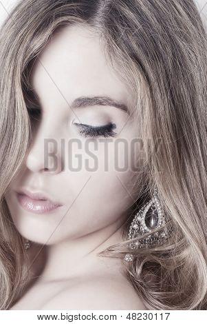 High Key Woman Portrait