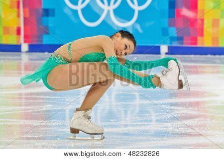 INNSBRUCK, AUSTRIA - JANUARY 17 Elizaveta Tuktamisheva (Russia) wins the ladies' figure skating event on January 17, 2012 in Innsbruck, Austria.