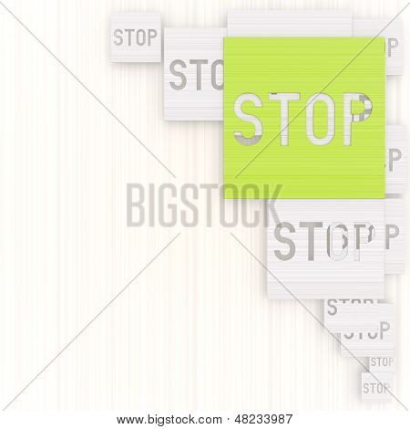 3D Graphic Of A Exclusive Stop Background With Pictogram