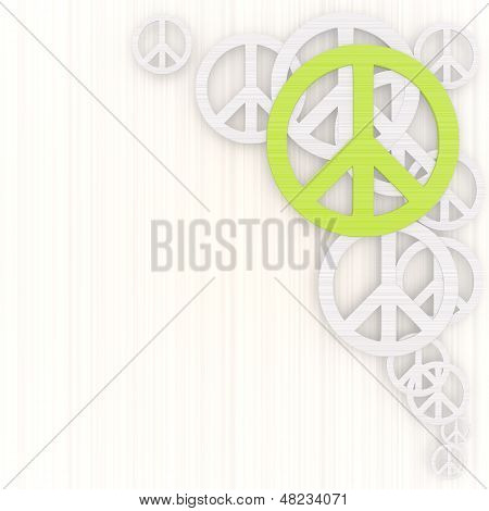 3D Render Of A Dapper Peace Illustration With Pictogram
