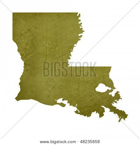 American state of Louisiana isolated on white background with clipping path.