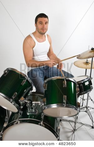 Young Man Drummer
