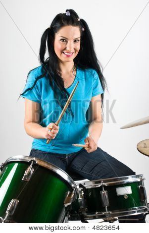 Beautiful Drummer Woman