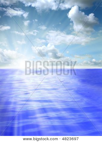 Beautiful Water And Sky