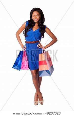 Sacos de compras de moda feliz